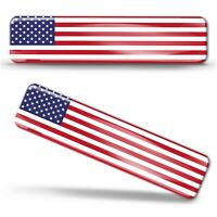3D Domed Flag United States of America Stickers USA American Emblem Badge Decal