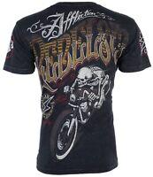 AFFLICTION Mens T-Shirt REBEL RIDERS American Customs Motorcycle Biker $58