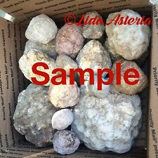 Unopened Geodes Mixed Large Full Box Whole Natural Quartz Rocks Kentucky Crystal