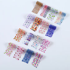 16Pcs/Set Decor Nail Art Decals Wraps Flower Nail Foils Foil Transfer Stickers