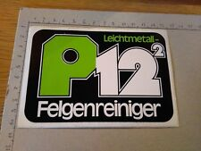 ADESIVO STICKER VINTAGE klebeR P12 2 P 12 LEICHTMETALL FELGENREINIGER