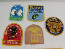 New listing Lot of 5 Trout Unlimited Bass North American Hunting Club Range Officer Patches
