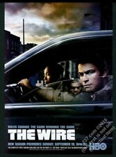 2004 The Wire HBO TV show vintage print ad