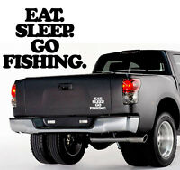 2 x Eat Sleep Go Fishing - Aufkleber, Sticker - ca. 10 cm - Norwegen Schweden
