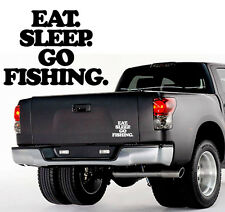 Eat Sleep Go Fishing - Aufkleber, Sticker - ca. 10 cm - Norwegen Schweden Island