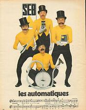 Publicité  1966  SEB  les automatiques couteau électrique aspirateur ouvre boite