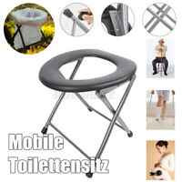 Portable Folding Toilet Seat Commode for Pregnant Camping Outdoor