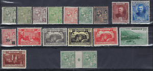 Classic collection MONACO * MH , last stamp ** MNH ,  see 2 scans !  LOT 112