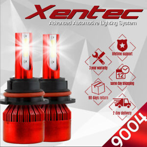 XENTEC LED Headlight Conversion kit 9004 HB1 6000K for Nissan Quest 1993-1995