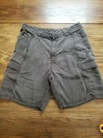 Tommy Bahama Men's  Relax Cargo Brown Shorts Tencel Cotton Blend Size 34