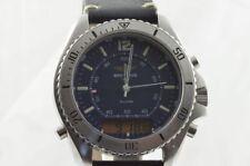 Breitling Plutón Reloj Para Hombre Acero / ACERO 42mm A51037 VINTAGE RAREZA Azul