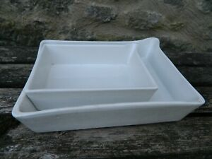 Two Vintage  Porcelain Developing Trays Ensign and another