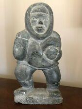 Rare Vintage Inuit Carved Stone Eskimo Sculpture