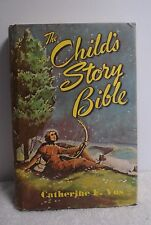 Vintage The Child's Story Bible by Catherine F. Vos Children's Reading Book HB
