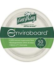 Cast Away Plate Enviroboard Round 7 inches  180 by 180 by 17 mm x 50