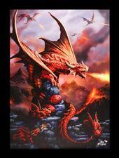 Lienzo Grande Dragón de fuego - Dragon - Anne Stokes Fantasy Imagen Impresa