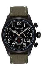 Gigandet Interceptor Herrenuhr Chronograph Datum Edelstahl Schwarz/Grün G4-003