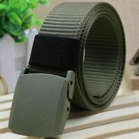 Military Belt Men Canvas Outdoor Tactical Web Nylon Waistband Sports Sport Mens