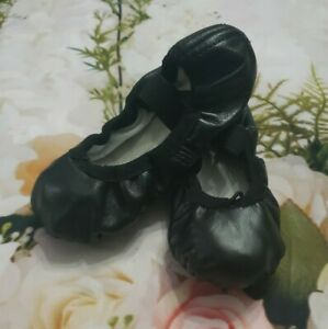 Angelo Luzio Black Leather Toddler Full Sole Leather Ballet Shoe 7.5M