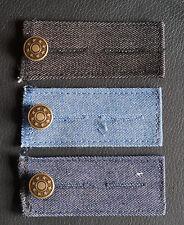 WENKO Jeans- Bunderweiterung 3er Set Jeans Bund Weiten mit Knopf Denim- Qualität