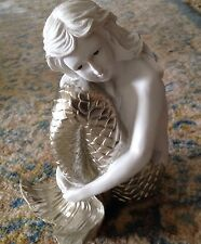 """calling all mermaids! 8"""" ceramic mermaid with metalic tail is for you"""