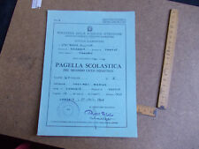 PAGELLA SCOLASTICA SCUOLA ELEMENTARE ANNO SCOLASTICO  1965/1966