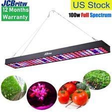JCBritw LED Grow Light for Indoor Plants Full Spectrum UV Red Blue 100W Pro B