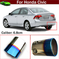 Blue Exhaust Muffler Tail Pipe Tip Tailpipe Emblem For For Honda Civic 2012-2017