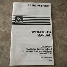 John Deere 21 Utility Trailer Operators Manual Omm134653