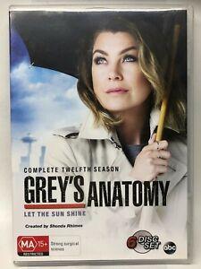 Grey's Anatomy - Complete Twelfth Season - 6 DVD Set - AusPost with Tracking