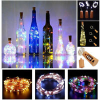 20 LEDs Christmas Copper Wire Wine Bottle Cork Battery Fairy String Light Decor