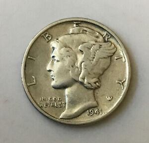 1941 Mercury Dime Silver