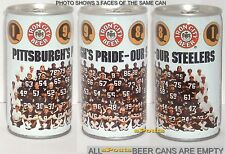 1981 Pittsburgh Steelers Team Photo Portrait Tin Beer Can Football Nfl Pa Sports