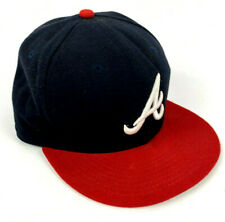 Atlanta Braves MLB 59Fifty New Era Official On Field Cap Hat fitted 7 3/8