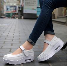 Womens Sneakers Wedges Platform Casual Buckle Shoes Ankle Starp Pumps Nurse NEW
