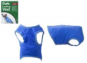 Crufts Cooling Dog Body Vest Gel Blue Adjust Strap XSM Neck 18-20/Chest 20-27cm