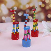 Wooden toys developmental dancing standing rocking giraffe gift toys for k paCWU