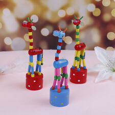 Wooden toys developmental dancing standing rocking giraffe gift toys for kids  Z