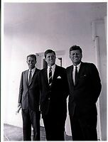 POSTCARD OF THE KENNEDY BROTHERS ROBERT, TEDDY & JOHN AT THE WHITE HOUSE