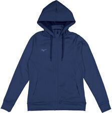 Mizuno - Womens L - NWT Navy Blue Full-Zip Hooded/Hoodie Sweatshirt Track Jacket
