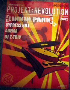 Chester Bennington Linkin Park Poster 2002 tour Projekt Revolution Tour