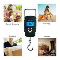 Portable 50kg/ 10g LCD Digital Fish Hanging Luggage Weight Electronic Hook Scale