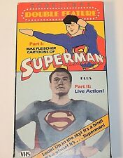 VHS Superman Max Fleischer Cartoons & TV Show W/ George Reeves-Rare & Works
