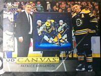 UPPER DECK 2019-2020 SERIES ONE PATRICE BERGERON CANVAS HOCKEY CARD C-5