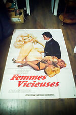FEMMES VICIEUSES 4x6 ft Adult X Rated French Grande Movie Poster Original 1975