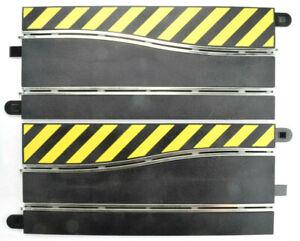 Scalextric 350mm Side Swipe Straight Track - 2pcs C8246 OPEN
