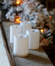 4 Pack 1.75 Inch White Economy Flameless Votive Candle - True Flicker