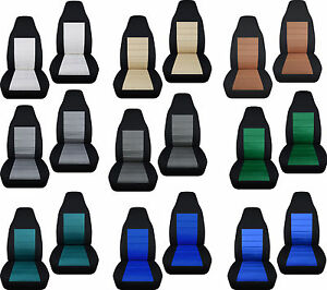 cc To fit geo metro front SET car seat covers two tone 23 colors choose