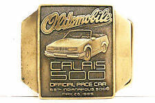 BELT BUCKLE ~ 1985 INDIANAPOLIS 500 ~ OLDSMOBILE CALAIS PACE CAR ~ BRONZE