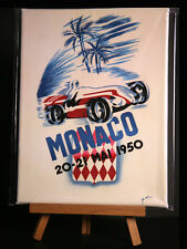 MONACO 1950 CANVAS PRINT STRETCHED AND FRAMED